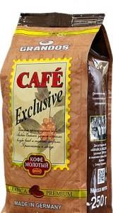 Купить Кофе Grandos Грандос Эксклюзив молотый 250 грамм