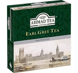 Купить Чай Ахмад Граф Грей 100 пакетов