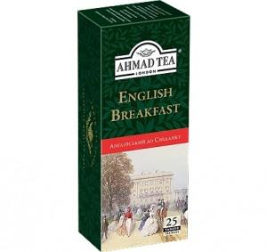 Купить Чай Ахмад Английский к завтраку 25 пакетов
