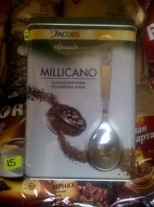 Купить Кофе Якобс Миликано 140 грамм с ложкой ж\б