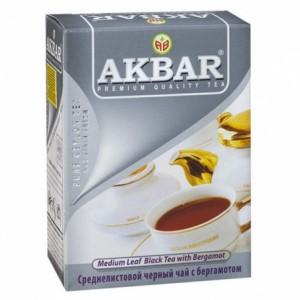 Купить Чай Акбар Граф Грей среднелистовой 100 грамм