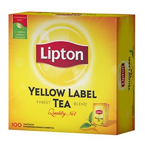 Чай Липтон черный 100 пакетиков