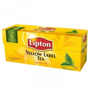 Купить Чай Липтон черный 25 пакетиков